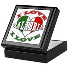 Italian I Love Calabria Keepsake Box