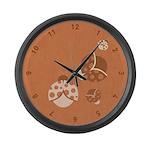 Vintage Lady Bugs Large Wall Clock