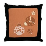Vintage Lady Bugs Throw Pillow