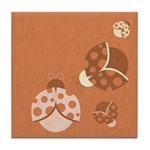 Vintage Lady Bugs Tile Coaster
