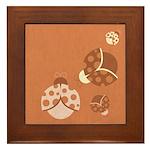 Vintage Lady Bugs Framed Tile
