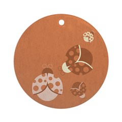 Vintage Lady Bugs Ornament (Round)