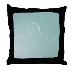 Blue Rose Eye Throw Pillow