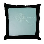 Blue Rose Eye Throw Pillow