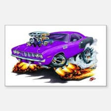 1971-72 Hemi Cuda Purple Car Rectangle Decal