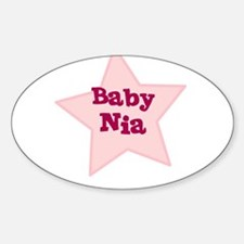 Baby Nia Oval Decal