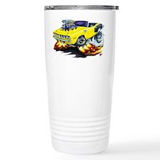 1971-72 Hemi Cuda Yellow Convertible Travel Mug