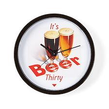 It's Beer Thirty Wall Clock
