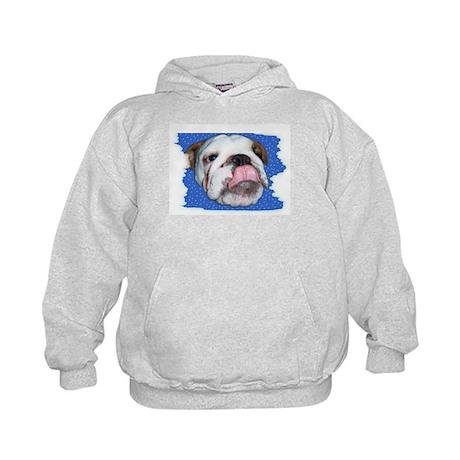 CUTE BULL DOG FACE Kids Hoodie