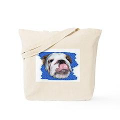 CUTE BULL DOG FACE Tote Bag
