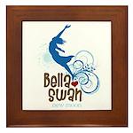 Bella Cliff Diving Framed Tile