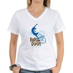 Bella Cliff Diving Women's V-Neck T-Shirt