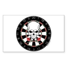 Dart Pirate Rectangle Sticker 50 pk)