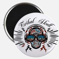 TRIBAL SKULL 2 (wide) Magnet
