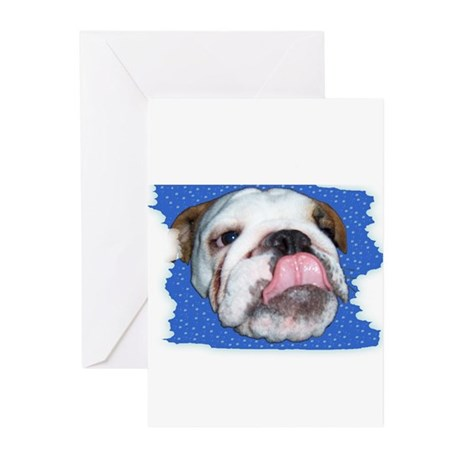 BULLDOG VALENTINES Greeting Cards (Pk of 10)