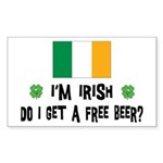 I'm Irish Rectangle Sticker