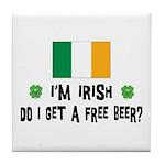 I'm Irish Tile Coaster