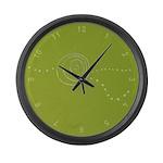 Green Rose Eye Large Wall Clock