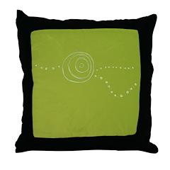 Green Rose Eye Throw Pillow