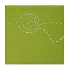 Green Rose Eye Tile Coaster