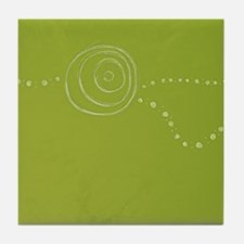 Green Rose Eye Tile Coaster