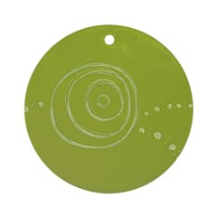 Green Rose Eye Ornament (Round)
