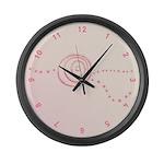 Pink Rose Eye Large Wall Clock