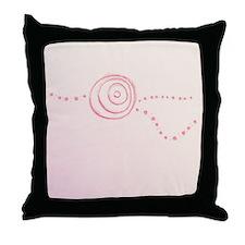 Pink Rose Eye Throw Pillow