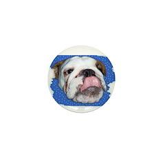 CUTE BULL DOG FACE Mini Button (100 pack)