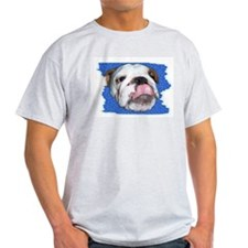 CUTE BULL DOG FACE  Ash Grey T-Shirt
