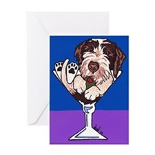 German Wirehair Pointer Marti Greeting Card