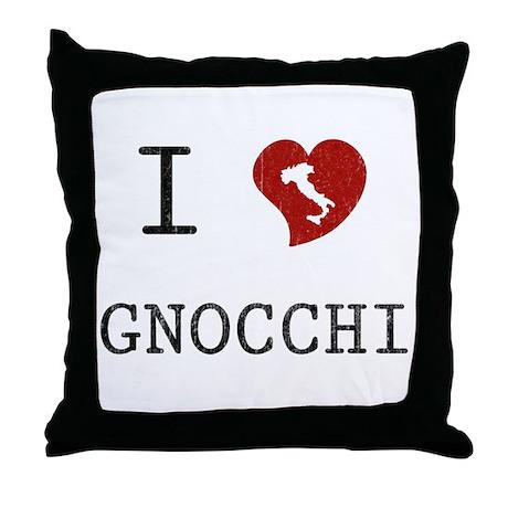 I Love Gnocchi Throw Pillow