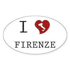 I Love Firenze Oval Decal