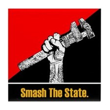 Smash The State Tile Coaster
