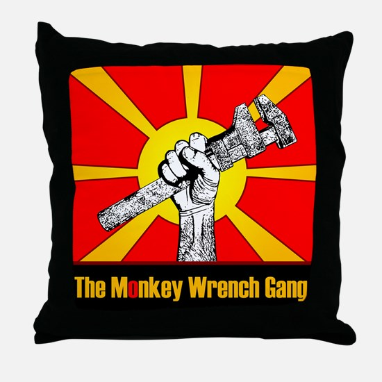 The Monkey Wrench Gang Throw Pillow