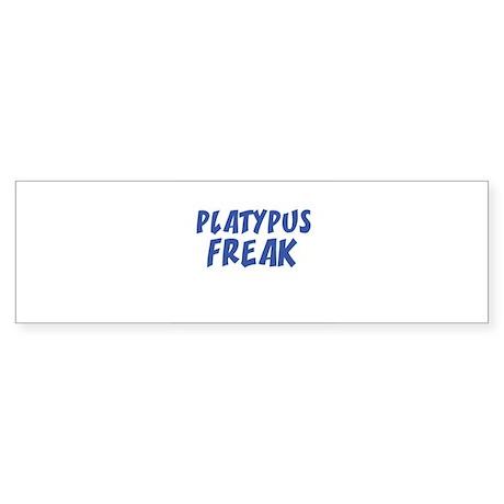 PLATYPUS FREAK Bumper Sticker
