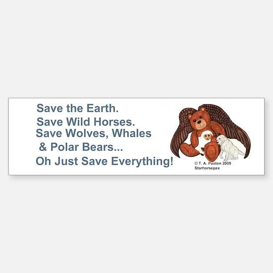 """Save"" Angel Bear Bumper Bumper Bumper Sticker"
