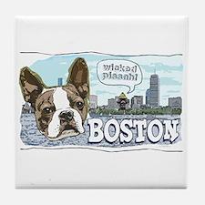 Wicked Pissah Boston Terrier Tile Coaster