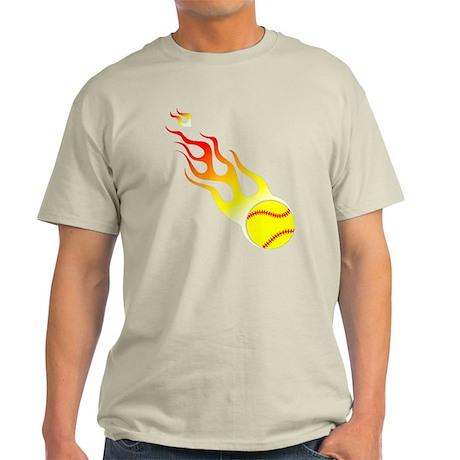 Softball On Fire! Light T-Shirt