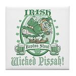 Irish Boston Stout Tile Coaster