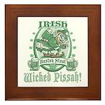 Irish Boston Stout Framed Tile