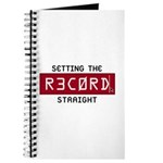Setting The Record Straight Journal