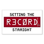 Setting The Record Straight Rectangle Sticker