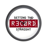 Setting The Record Straight Wall Clock