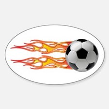Side fire soccer Oval Decal