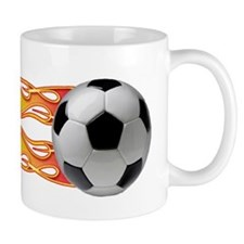 Side fire soccer Mug