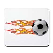 Side fire soccer Mousepad