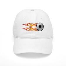 Side fire soccer Baseball Cap