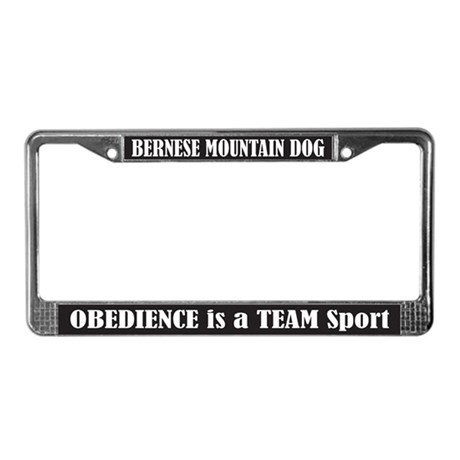 Obedience License Plate Frame
