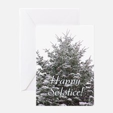 Solstice Evergreen Greeting Card